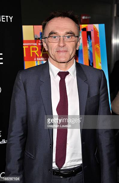 Director Danny Boyle attends the premiere of Fox Searchlight Pictures' 'Trance' hosted by The Cinema Society Montblanc at SVA Theater on April 2 2013...