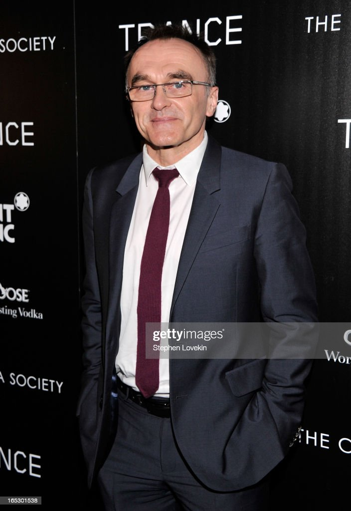 Director Danny Boyle attends the premiere of Fox Searchlight Pictures' 'Trance' hosted by The Cinema Society & Montblanc at SVA Theater on April 2, 2013 in New York City.