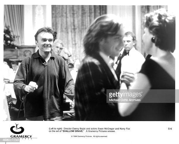 Director Danny Boyle on set of the movie 'Shallow Grave ' circa 1994