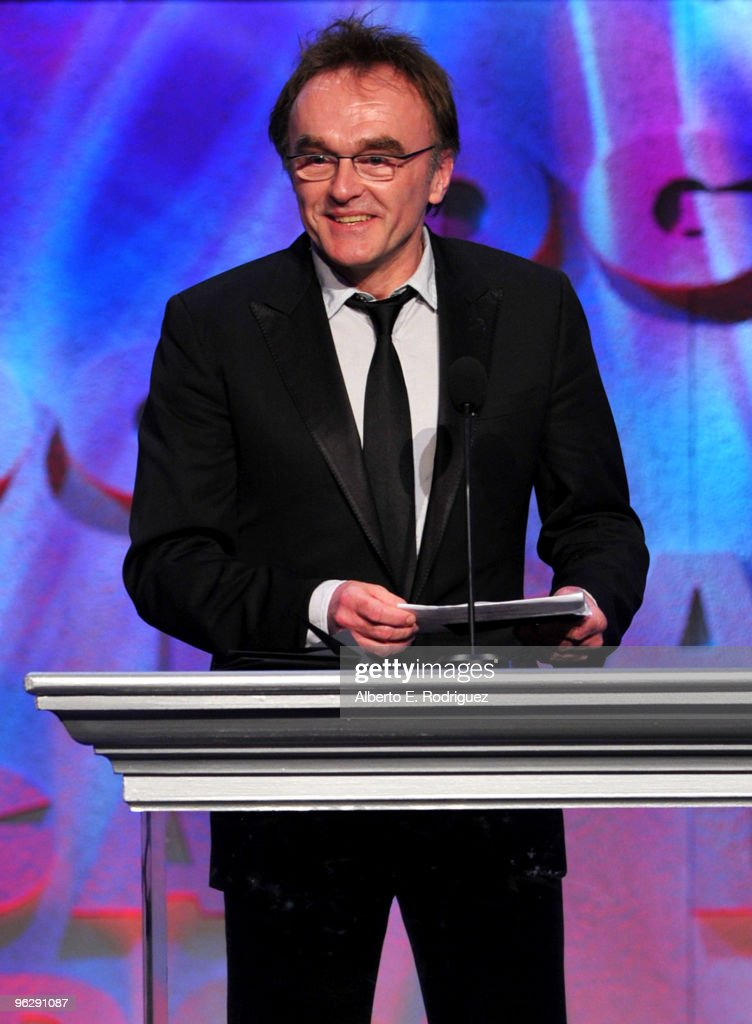 Director Danny Boyle presents the Feature Film DGA Award onstage during the 62nd Annual Directors Guild Of America Awards at the Hyatt Regency Century Plaza on January 30, 2010 in Century City, California.
