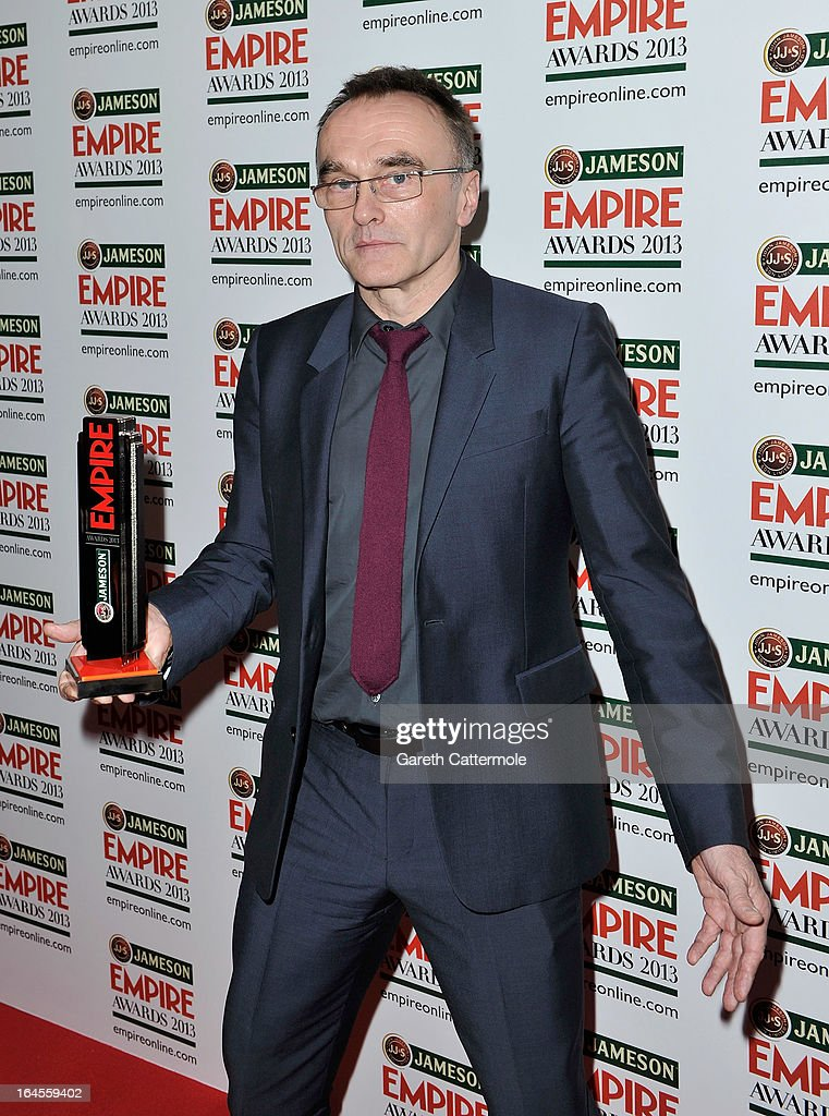 Director Danny Boyle with the Outstanding Contribution award at the Jameson Empire Awards 2013 at Grosvenor House on March 24, 2013 in London, England.