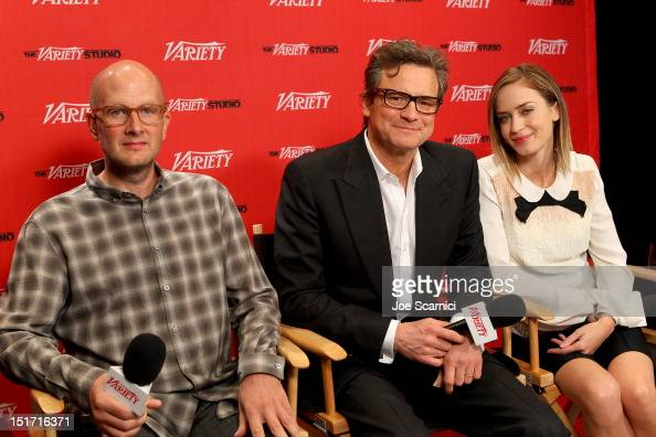 Director Dante Ariola Actor Colin Firth and Actress Emily Blunt attend the Variety Studio presented by Moroccanoil at Holt Renfrew during the 2012...