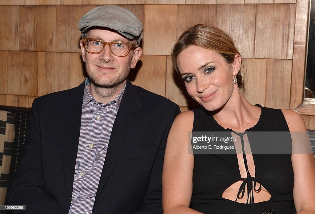 Director Dante Ariola and actress Emily Blunt attend the after party for the premiere of Cinedigm's 'Arthur Newman' at on April 18, 2013 in Hollywood, California.
