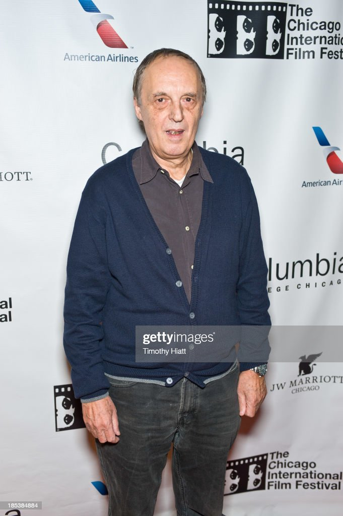 Director <a gi-track='captionPersonalityLinkClicked' href=/galleries/search?phrase=Dario+Argento&family=editorial&specificpeople=4294495 ng-click='$event.stopPropagation()'>Dario Argento</a> attends the 'Dracula 3D' premiere at AMC River East Theater on October 19, 2013 in Chicago, Illinois.