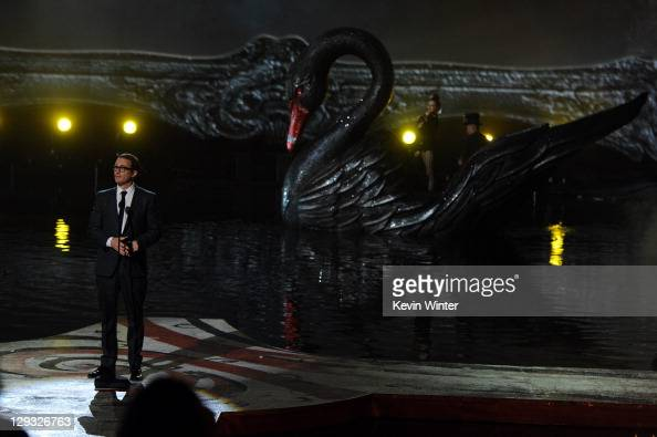 Director Darren Aronofsky accepts the Best Director award onstage during Spike TV's 'SCREAM 2011' awards held at Universal Studios on October 15 2011...