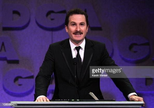 "Director Darren Aronofsky accepts the Feature Film Nomination Plaque for ""Black Swan"" onstage at the 63rd Annual Directors Guild Of America Awards..."