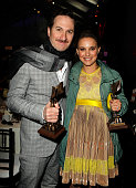 Director Darren Aronofsky and actress Natalie Portman attend the 2011 Film Independent Spirit Awards at Santa Monica Beach on February 26 2011 in...