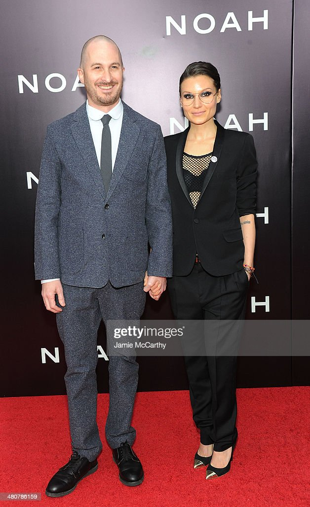 Director <a gi-track='captionPersonalityLinkClicked' href=/galleries/search?phrase=Darren+Aronofsky&family=editorial&specificpeople=841696 ng-click='$event.stopPropagation()'>Darren Aronofsky</a> (L) and Producer Brandi-Ann Milbradt attend the 'Noah' New York premiere at Ziegfeld Theatre on March 26, 2014 in New York City.