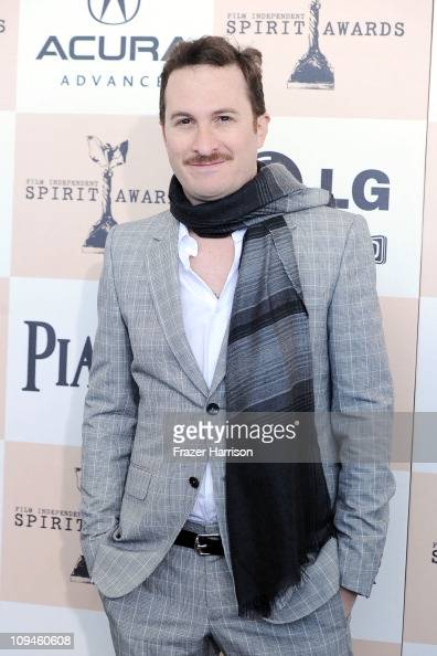 Director Darren Aronofsky arrives at the 2011 Film Independent Spirit Awards at Santa Monica Beach on February 26 2011 in Santa Monica California