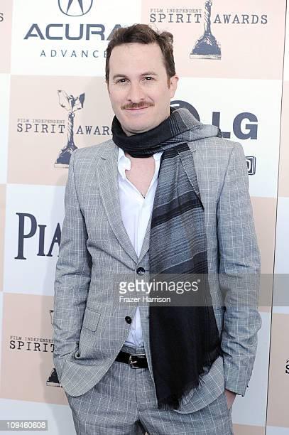 Director Darren Aronofsky arrives at the 2011 Film Independent Spirit Awards at Santa Monica Beach on February 26 2011 in Santa Monica California
