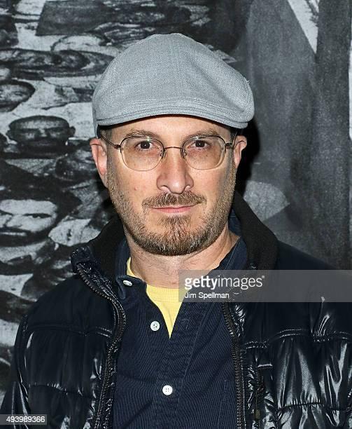 Director Darren Aronofsky attends the 'Ellis' New York premiere on October 23 2015 in New York City