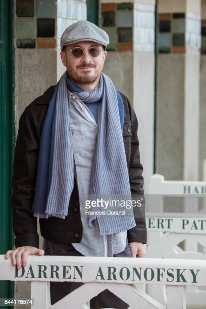 Director Darren Aronofsky attends the naming ceremony of his dedicated beach cabana during the 43rd Deauville American Film Festival on September 8...
