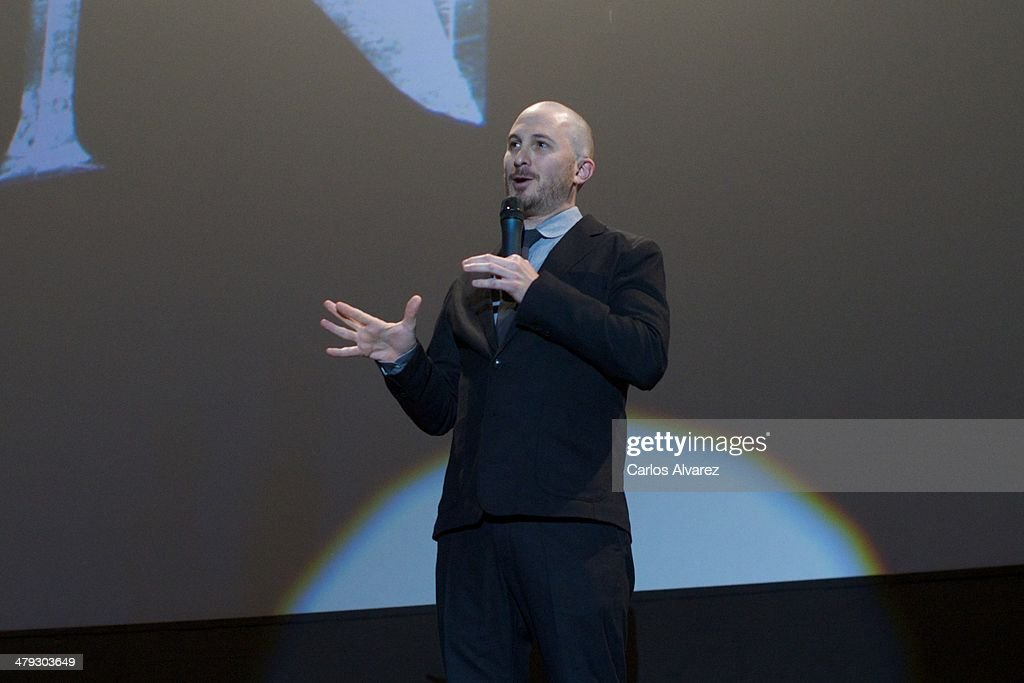 Director <a gi-track='captionPersonalityLinkClicked' href=/galleries/search?phrase=Darren+Aronofsky&family=editorial&specificpeople=841696 ng-click='$event.stopPropagation()'>Darren Aronofsky</a> attends the premiere of Paramount Pictures 'Noah' (Noe) at the Palafox cinema on March 17, 2014 in Madrid, Spain.