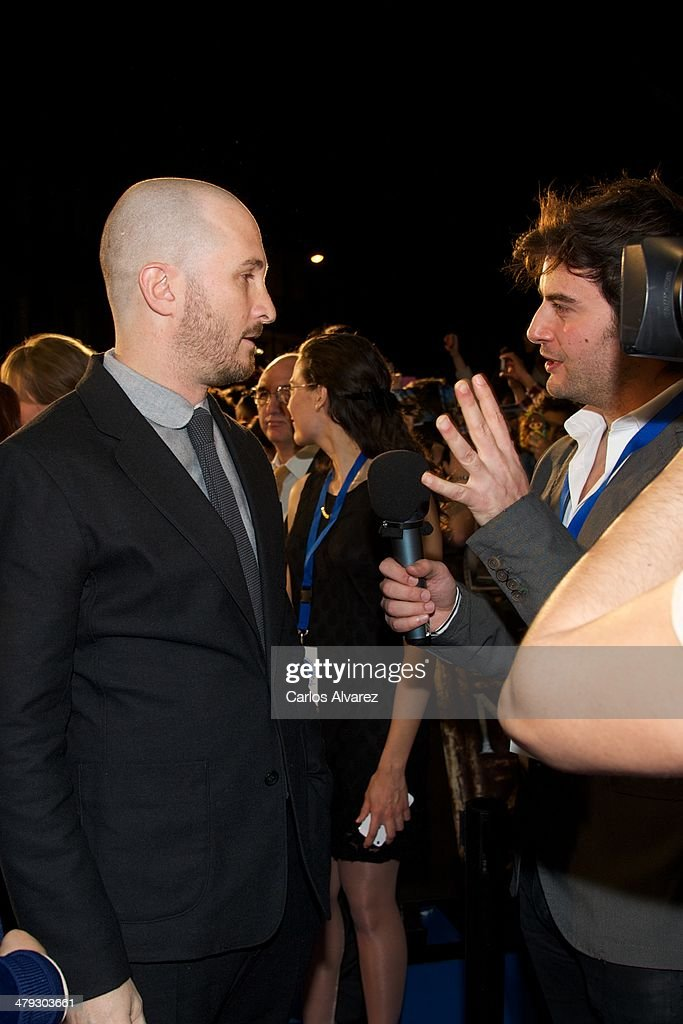 Director <a gi-track='captionPersonalityLinkClicked' href=/galleries/search?phrase=Darren+Aronofsky&family=editorial&specificpeople=841696 ng-click='$event.stopPropagation()'>Darren Aronofsky</a> (L) attends the premiere of Paramount Pictures 'Noah' (Noe) at the Palafox cinema on March 17, 2014 in Madrid, Spain.