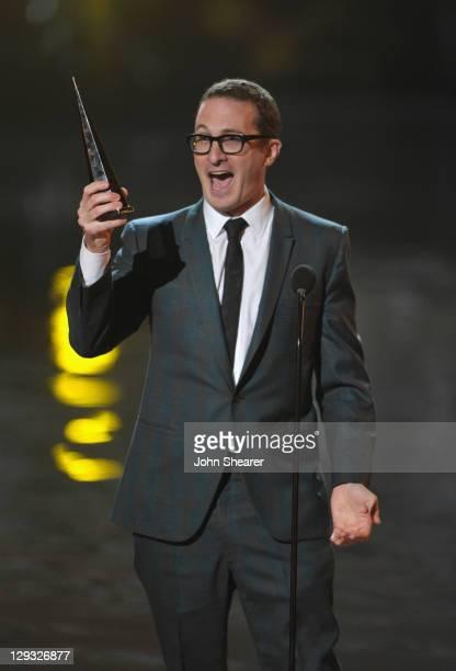 Director Darren Aronofsky speaks onstage at Spike TV's 'SCREAM 2011' awards held at the Universal Studios Backlot on October 15 2011 in Universal...