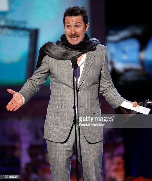 Director Darren Aronofsky speaks onstage during the 2011 Film Independent Spirit Awards at Santa Monica Beach on February 26 2011 in Santa Monica...