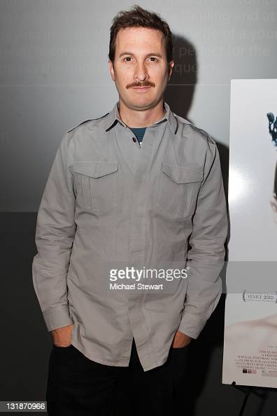 Director Darren Aronofsky visits the Apple Store Soho on November 18 2010 in New York City