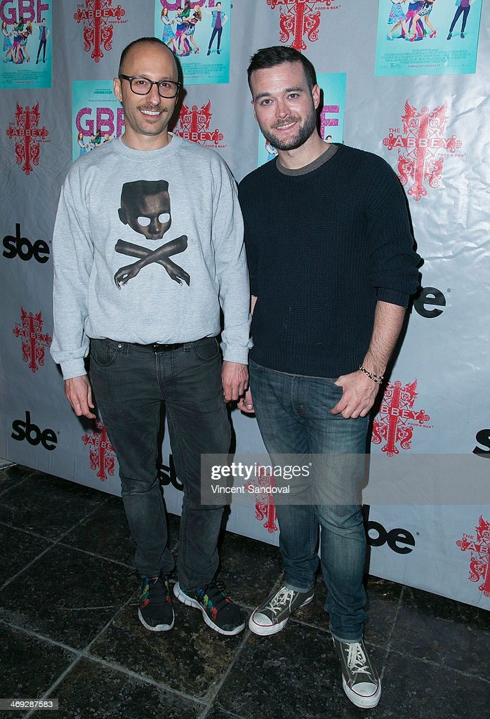 Director Darren Stein (L) and writer George Northy attend the 'G.B.F.' DVD release party at The Abbey on February 13, 2014 in West Hollywood, California.