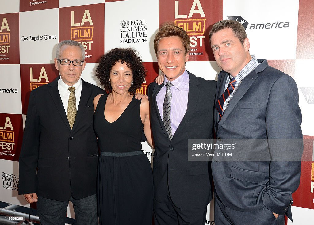 LAFF director David Ansen, Los Angeles Film Festival Director <a gi-track='captionPersonalityLinkClicked' href=/galleries/search?phrase=Stephanie+Allain&family=editorial&specificpeople=2079610 ng-click='$event.stopPropagation()'>Stephanie Allain</a>, Film Independent co-presidents Sean McManus, and Josh Welsh arrive at Film Independent's 2012 Los Angeles Film Festival Premiere of Sony Pictures Classics' 'To Rome With Love' at Regal Cinemas L.A. LIVE Stadium 14 on June 14, 2012 in Los Angeles, California.