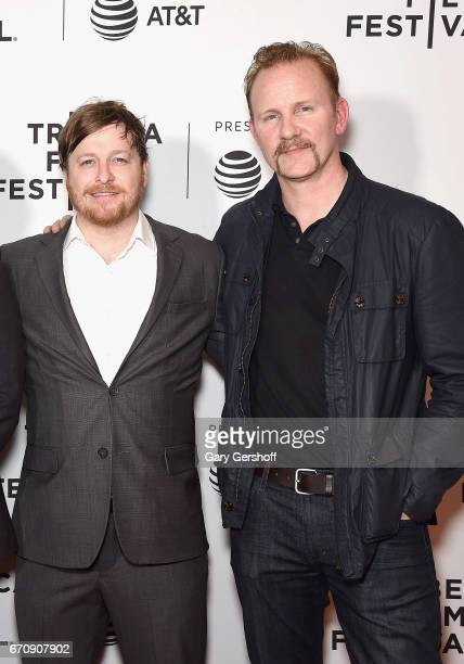 Director David Byars and producer Morgan Spurlock attend a screening of 'No Man's Land' during the 2017 Tribeca Film Festival at Cinepolis Chelsea on...