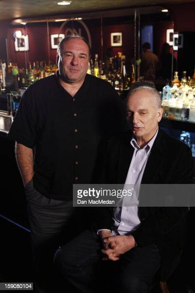 Director David Chase and actor James Gandolfini are photographed for USA Today on November 30 2012 in West Hollywood California PUBLISHED IMAGE