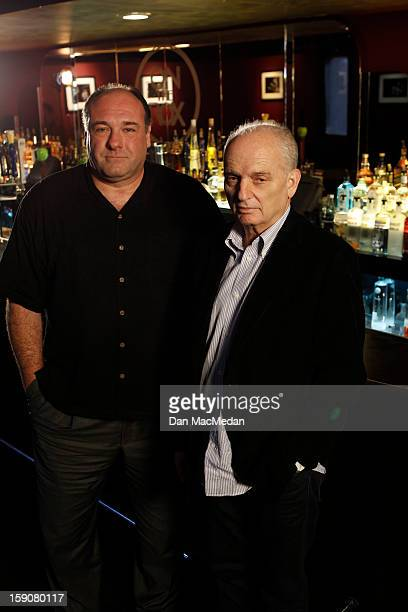 Director David Chase and actor James Gandolfini are photographed for USA Today on November 30 2012 in West Hollywood California