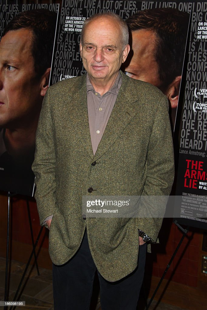 Director David Chase attends 'The Armstrong Lie' New York premiere at Tribeca Grand Hotel on October 30, 2013 in New York City.