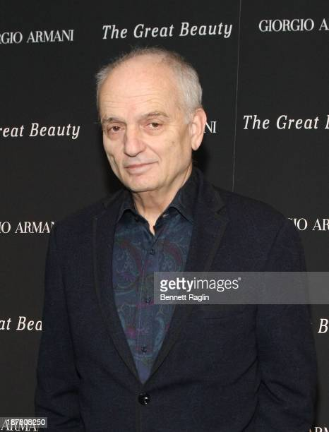 Director David Chase attends 'The Great Beauty' private screening at Bryant Park Hotel on November 12 2013 in New York City