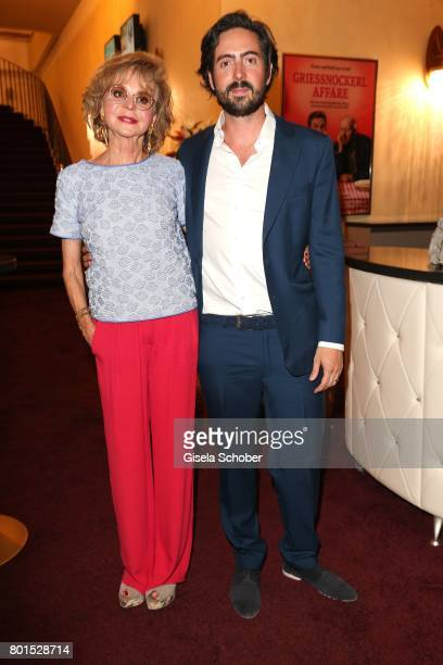 Director David Dietl and his mother Marianne Dennler attends the premiere of the movie 'Ella's Baby' during the film festival Munich at Gloria Palast...