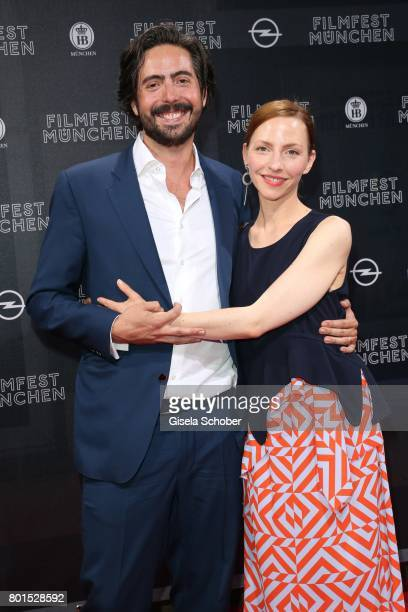 Director David Dietl and Katharina Schuettler during the premiere of the movie 'Ella's Baby' during the film festival Munich at Gloria Palast on June...