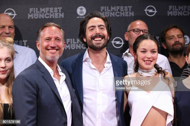 Director David Dietl Benno Fuermann and Tijan Marei attend the premiere of the movie 'Ella's Baby' during the film festival Munich at Gloria Palast...
