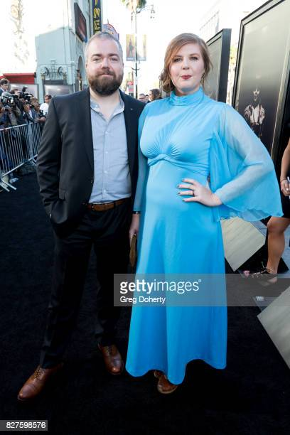 Director David F Sandberg and wife Lotta Losten arrive for the Premiere Of New Line Cinema's 'Annabelle Creation' at the TCL Chinese Theatre on...