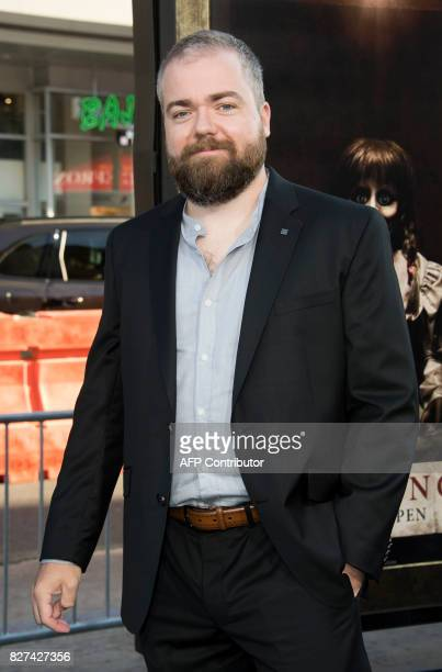 Director David F Sandberg attends the premiere of 'Annabelle Creation' on August 7 in Hollywood California / AFP PHOTO / VALERIE MACON