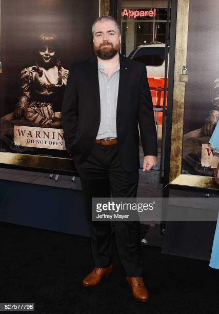 Director David F Sandberg attends the premiere of New Line Cinema's 'Annabelle Creation' at TCL Chinese Theatre IMAX on August 07 2017 in Los Angeles...