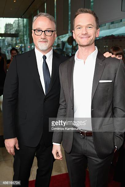 Director David Fincher and actor Neil Patrick Harris attend the Opening Night Gala Presentation and World Premiere of 'Gone Girl' during the 52nd New...