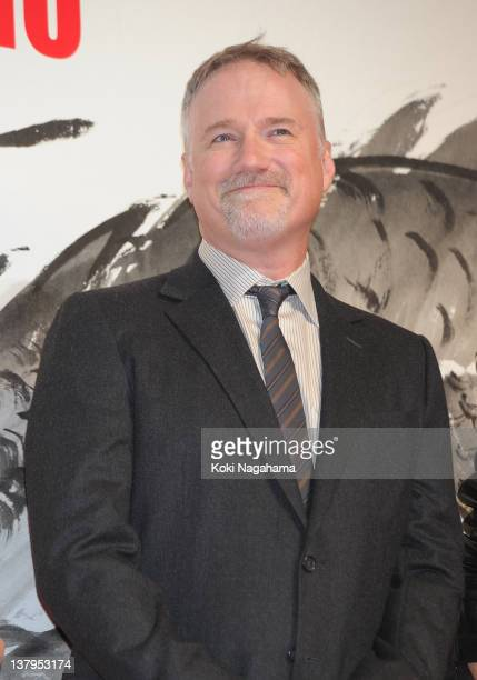 Director David Fincher attends the 'The Girl with the Dragon Tattoo' Japan Premiere at Tokyo International Forum on January 30 2012 in Tokyo Japan...