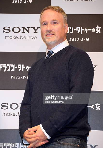 Director David Fincher attends the 'The Girl with the Dragon Tattoo' press conference at Tokyo Midtown on January 31 2012 in Tokyo Japan The film...