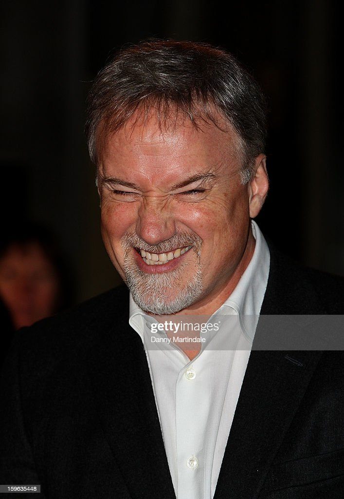 Director David Fincher pulls a face at the premiere for the launch of Netflix Original Series, House of Cards on January 17, 2013 in London, United Kingdom.
