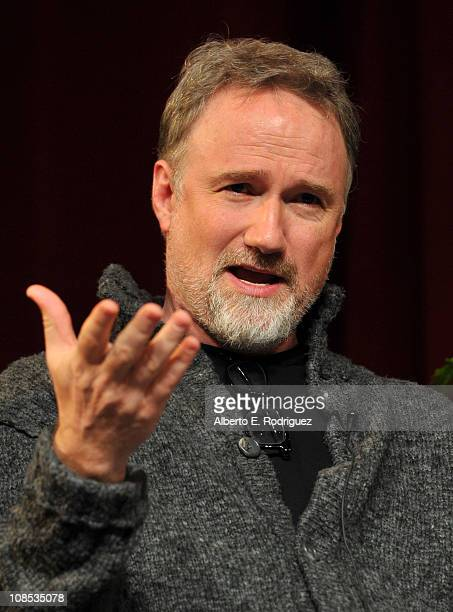 Director David Fincher speaks onstage at the 63rd Annual Directors Guild Of America Awards Feature Film Symposium held at the DGA on January 29 2011...