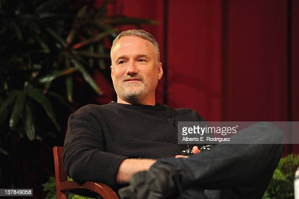 Director David Fincher speaks onstage at the 63rd Annual Directors Guild Of America Awards Feature Film Symposium held at the DGA on January 28 2012...