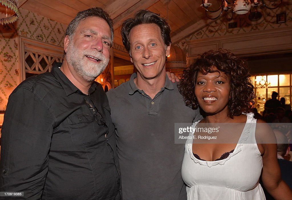 Director David Garber, actor <a gi-track='captionPersonalityLinkClicked' href=/galleries/search?phrase=Steven+Weber&family=editorial&specificpeople=608237 ng-click='$event.stopPropagation()'>Steven Weber</a> and actress <a gi-track='captionPersonalityLinkClicked' href=/galleries/search?phrase=Alfre+Woodard&family=editorial&specificpeople=220969 ng-click='$event.stopPropagation()'>Alfre Woodard</a> attend The Creative Coalition's 2013 Summer Soiree at Mari Vanna Los Angeles on June 19, 2013 in West Hollywood, California.