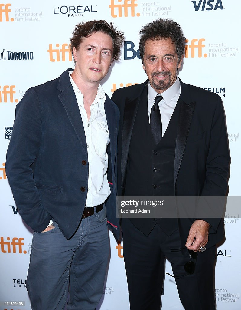 Director David Gordon Green and actor Al Pacino attend the 'Manglehorn' Premiere during the 2014 Toronto International Film Festival at Winter Garden...