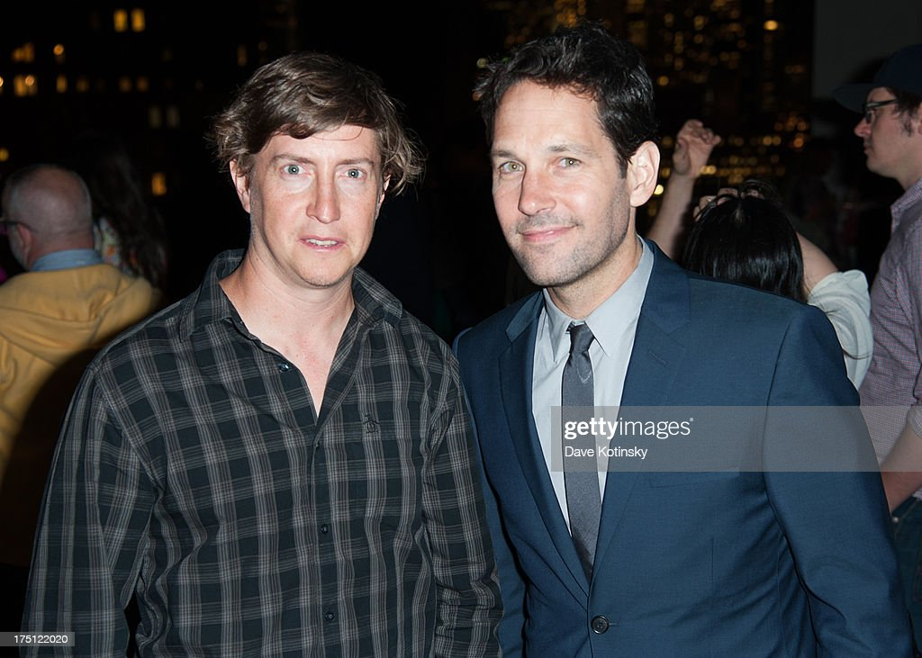 Director David Gordon Green and actor Paul Rudd attend The Cinema Society And Gents Host A Screening Of Magnolia Pictures' 'Prince Avalanche' After...