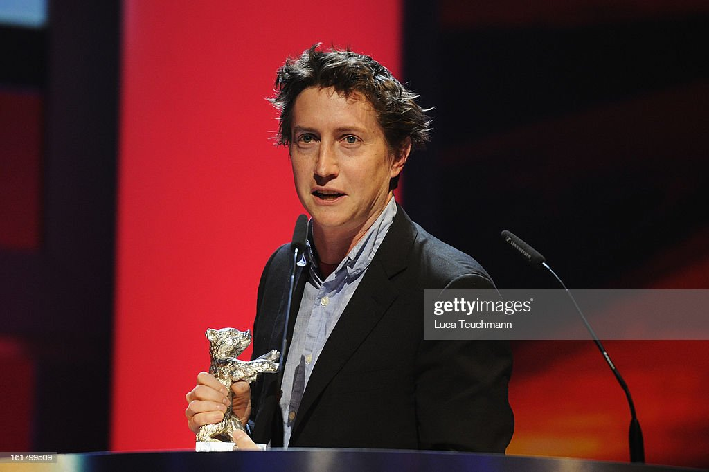 Director David Gordon Green receives the award as best director at the Closing Ceremony during the 63rd Berlinale International Film Festival at...