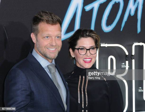 Director David Leitch and editor Elisabet Ronaldsdottir attend the premiere of Focus Features' 'Atomic Blonde' at The Theatre at Ace Hotel on July 24...