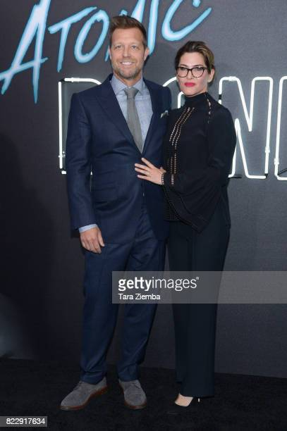 Director David Leitch and producer Kelly McCormick attend Focus Features' 'Atomic Blonde' at The Theatre at Ace Hotel on July 24 2017 in Los Angeles...