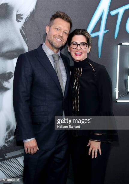 Director David Leitch and producer Kelly McCormick attend Focus Features' 'Atomic Blonde' premiere at The Theatre at Ace Hotel on July 24 2017 in Los...