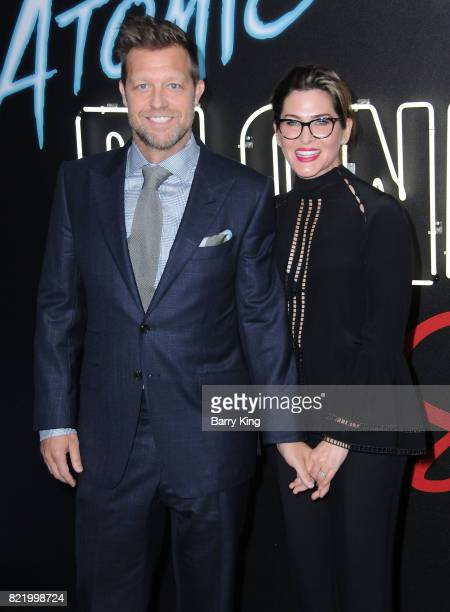Director David Leitch and producer Kelly McCormick attend the premiere of Focus Features' 'Atomic Blonde' at The Theatre at Ace Hotel on July 24 2017...