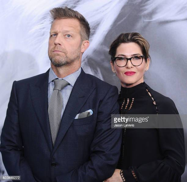 Director David Leitch and producer Kelly McCormick attend the premiere of 'Atomic Blonde' at The Theatre at Ace Hotel on July 24 2017 in Los Angeles...