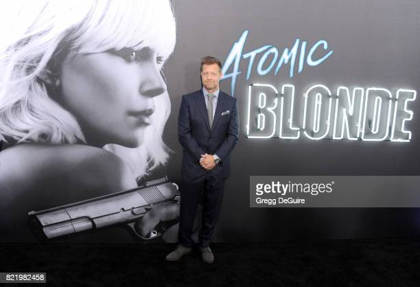 Director David Leitch arrives at the premiere of Focus Features' 'Atomic Blonde' at The Theatre at Ace Hotel on July 24 2017 in Los Angeles California